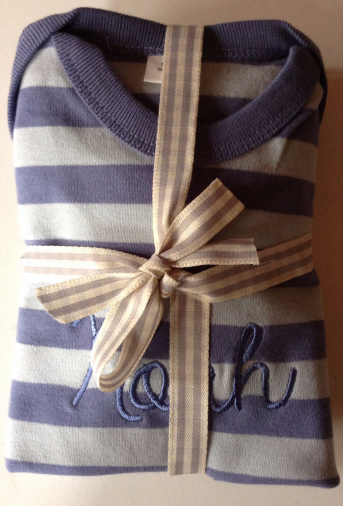 Newborn Stripey Set Grey/White Stripe 0-3 Months